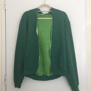 American Apparel Classic Green Hoodie